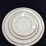 DINNERWARE- CHINA, IVORY LUNCHEON PLATE (PACK OF 10)
