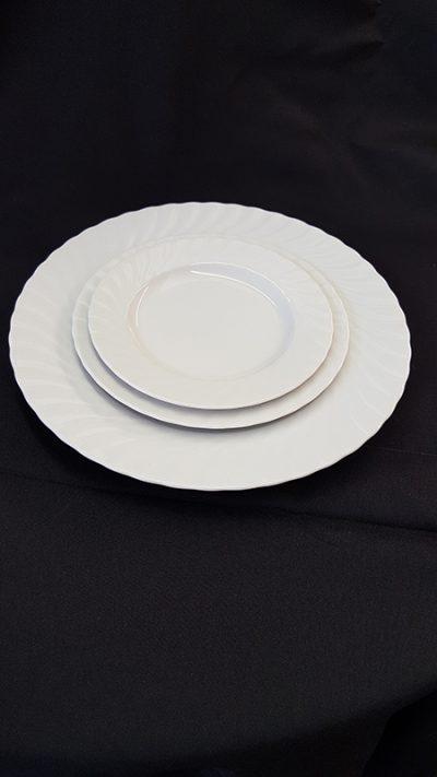 CHINA, WHITE PLATES