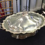 CHAFING DISH 5 QT. SILVER, OVAL