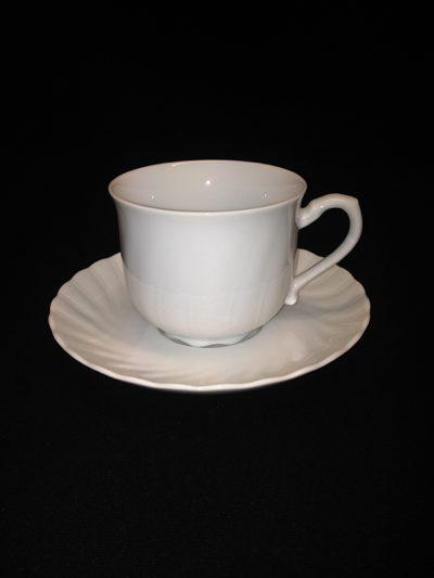 CHINA, WHITE COFFEE CUPS