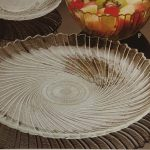 DINNERWARE- GLASS SEABREEZE PATTERN, PLATE- DINNER, (PACK OF 10)