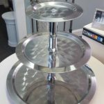 TRAY, 3 TIERED, STAINLESS